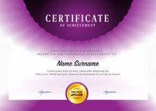 Modello del certificato Fotografia Stock