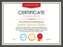 Modello del certificato con gli elementi decorativi Fotografia Stock Libera da Diritti