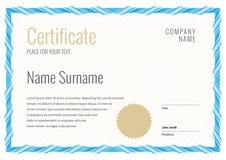 Modello del certificato Diploma di progettazione moderna o del buono regalo royalty illustrazione gratis