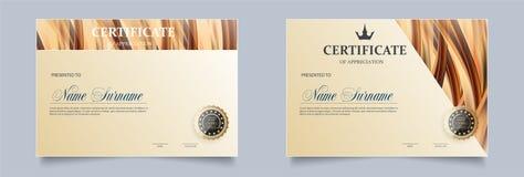 Modello del certificato nel vettore royalty illustrazione gratis