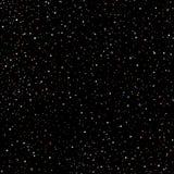 Modello del cielo di tiraggio stellato della mano, anelli di scarabocchio ed incroci senza cuciture in galassia e nello stile del illustrazione di stock