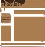 Modello del cioccolato royalty illustrazione gratis