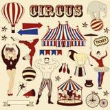 Modello del circo Fotografie Stock Libere da Diritti