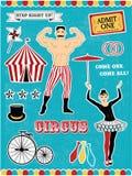 Modello del circo Immagini Stock Libere da Diritti