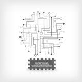 Modello del circuito del computer Immagini Stock Libere da Diritti