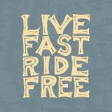 Modello del club del motociclista o del cavaliere Emblema su ordinazione d'annata, distintivo dell'etichetta per la maglietta Ret Fotografie Stock