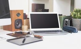 Modello del computer portatile Immagine Stock