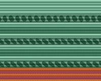Modello del confine della stampa del tessuto Fotografia Stock