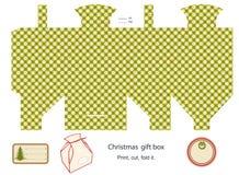 Modello del contenitore di regalo. Fotografia Stock