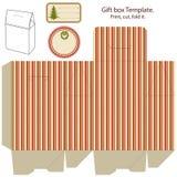 Modello del contenitore di regalo. Immagine Stock