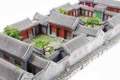 Modello del cortile della Cina Fotografie Stock