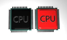 MODELLO del CPU di fondo, 3d render-3 Fotografie Stock