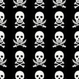 Modello del cranio del pirata Fotografie Stock Libere da Diritti