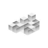 Modello del cubo Immagine Stock