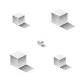 Modello del cubo Fotografia Stock Libera da Diritti