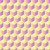 Modello del cubo nei colori pastelli fotografie stock