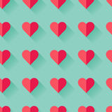 Modello del cuore del biglietto di S. Valentino astratto rosa Immagine Stock