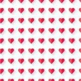 Modello del cuore del biglietto di S. Valentino astratto rosa Fotografie Stock