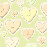 Modello del cuore del biglietto di S. Valentino Piccolo cuore variopinto sveglio Fotografie Stock