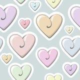 Modello del cuore del biglietto di S. Valentino Piccolo cuore variopinto sveglio Immagine Stock Libera da Diritti