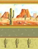 Modello del deserto Immagine Stock