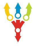 Modello del diagramma di flusso, con colore Fotografie Stock Libere da Diritti