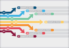 Modello del diagramma di flusso di vettore Fotografia Stock