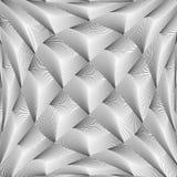 Modello del diamante di griglia deformato monocromio di progettazione Fotografia Stock
