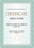 Modello del diploma o del certificato Immagini Stock