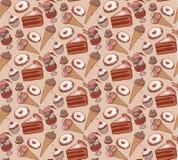 Modello del dolce di cioccolato dei dolci royalty illustrazione gratis