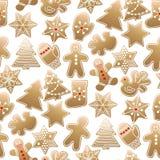 Modello del dolce di Natale Immagini Stock