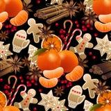 Modello del dolce di Natale Fotografia Stock
