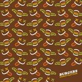 Modello del fast food Fotografie Stock Libere da Diritti