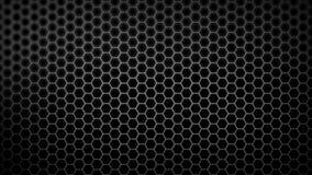 Modello del favo con effetto della luce sopra i precedenti scuri 4K illustrazione di stock