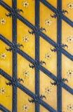Modello del ferro sul vecchio portone Fotografie Stock Libere da Diritti
