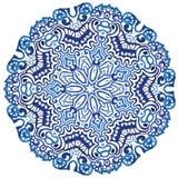 Modello del fiocco di neve del cerchio illustrazione di stock
