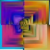 Modello del fondo blu del mosaico di colore Vettore Fotografia Stock Libera da Diritti
