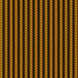 Modello del fondo del carbonio del metallo dell'oro illustrazione di stock