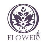 Modello del fondo del fiore Lotus Symbol marchio Fotografia Stock