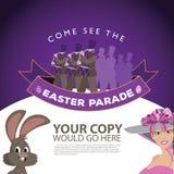 Modello 2 del fondo dell'annuncio di parata di Pasqua royalty illustrazione gratis