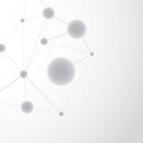 Modello del fondo della struttura dell'atomo della molecola Immagine Stock Libera da Diritti
