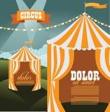 Modello del fondo delle tende di circo con lo spazio della copia Immagini Stock Libere da Diritti