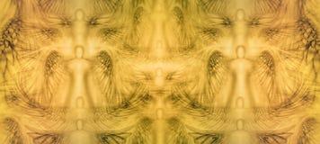 Modello del fondo di angeli Immagini Stock Libere da Diritti
