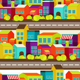 Modello del fondo di concetto della città senza cuciture Immagine Stock Libera da Diritti