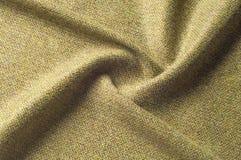 Modello del fondo di TTexture Cachi di seta del tessuto, verde, gra del campo Immagine Stock