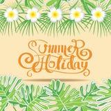 Modello del fondo di vacanza estiva senza cuciture Fotografia Stock Libera da Diritti