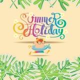 Modello del fondo di vacanza estiva senza cuciture Immagine Stock