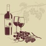 Modello del fondo per il menu del vino Fotografia Stock