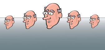 Modello del fronte del fumetto Fotografie Stock Libere da Diritti