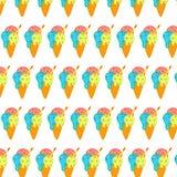 Modello del gelato nei colori delicati immagine stock